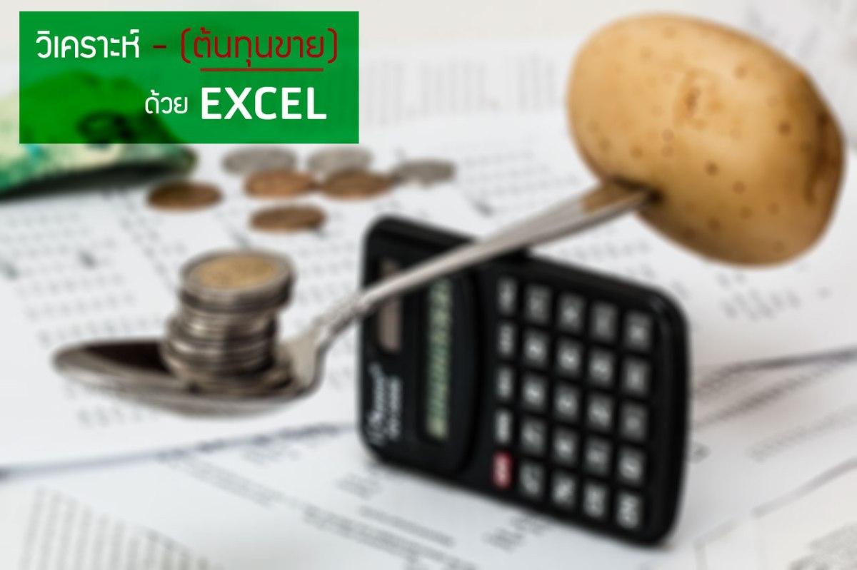 วิเคราะห์ต้นทุนขายอย่างง่ายๆ ด้วย Excel